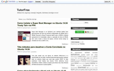 Screenshot of Login Page tutorfreebr.blogspot.com.br - TutorFree: login - captured Nov. 2, 2014