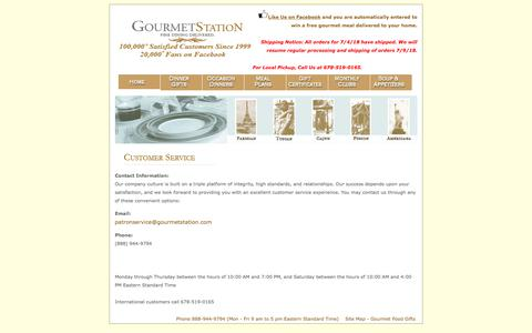 Screenshot of Contact Page gourmetstation.com - Contact GourmetStation For Gourmet Food Gifts and Gourmet Dinners Delivered and Gourmet Meals - captured June 30, 2018