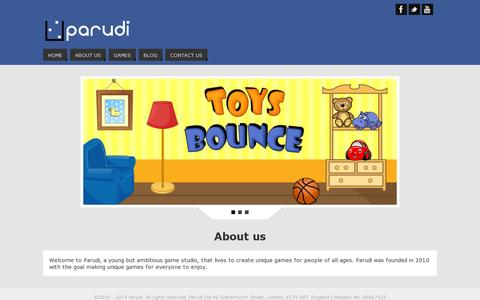 Screenshot of Home Page parudi.com - Parudi - unique social games that everyone enjoys - captured July 11, 2014