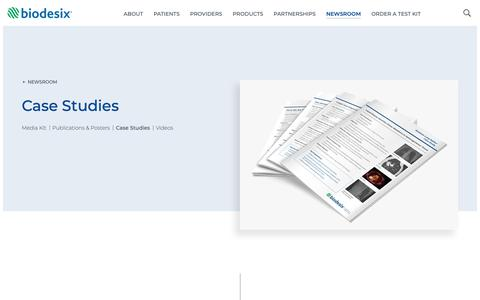 Screenshot of Case Studies Page biodesix.com - Case Studies - Biodesix - captured March 16, 2019