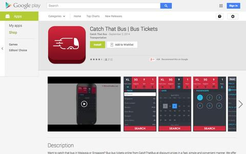 Screenshot of Android App Page google.com - Catch That Bus | Bus Tickets - Android Apps on Google Play - captured Oct. 22, 2014