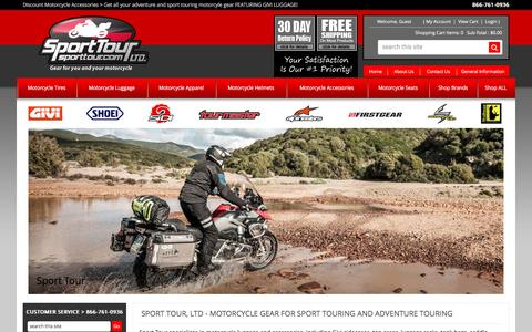 Screenshot of Home Page sporttour.com - Sport Tour Ltd - Adventure Touring and Sport Touring Accessories - Motorcycle Accessories and Gear - captured June 14, 2016