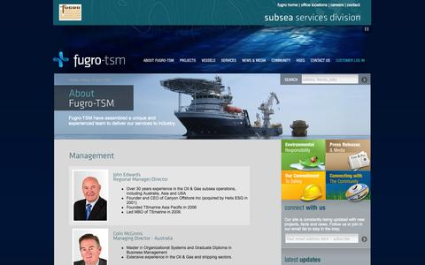 Screenshot of Team Page fugrotsm.com - Fugro-TSM - Management - captured Sept. 30, 2014