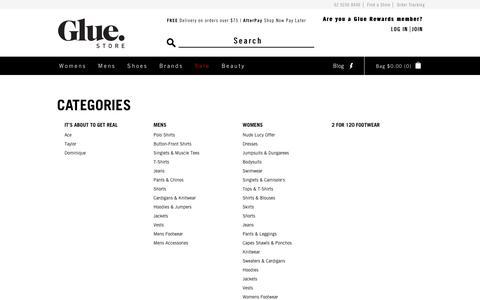 Screenshot of Site Map Page gluestore.com.au - Site Map - Glue Store - captured July 21, 2018