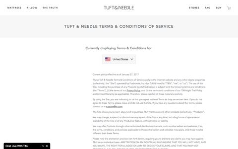 Terms of Service | Tuft & Needle