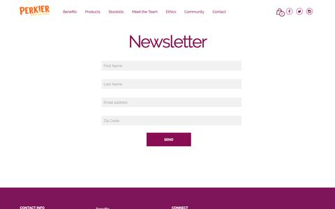 Screenshot of Signup Page perkier.co.uk - Newsletter | Perkier - captured Nov. 10, 2018