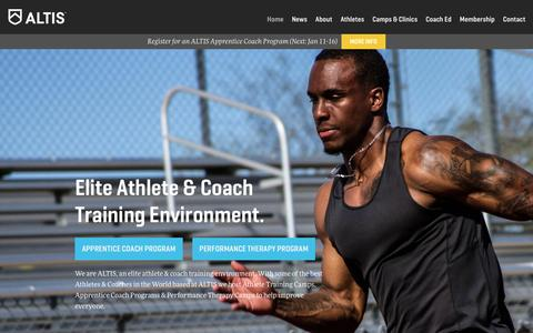 Screenshot of Home Page worldathleticscenter.com - Elite athlete training environment | Track & Field, Athletics Training Center | Altis, Phoenix, Arizona - captured Jan. 11, 2016