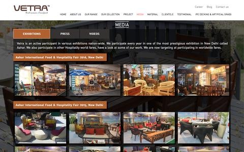 Screenshot of Press Page vetrafurniture.com - Media News Of Vetra Furniture, Outdoor & Garden Furniture Manufacturer In Delhi - captured Nov. 7, 2017
