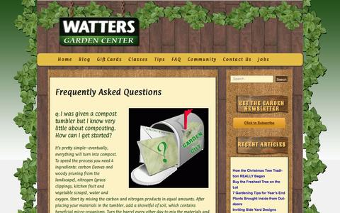 Screenshot of FAQ Page wattersgardencenter.com - Frequently Asked Questions - Watters Garden Center - captured Dec. 13, 2016