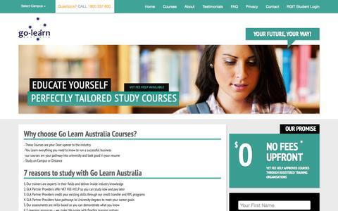 Screenshot of Home Page golearnaustralia.com.au - Go-Learn Australia - captured Nov. 16, 2015