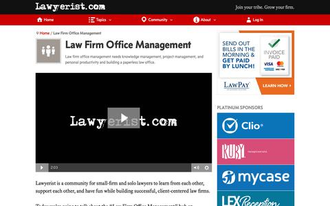 Screenshot of Team Page lawyerist.com - Law Firm Office Management (2018) | Lawyerist - captured Nov. 7, 2018
