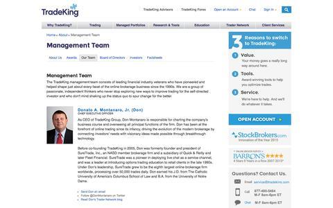 Screenshot of Team Page tradeking.com - TradeKing Executive Management Team | TradeKing - captured July 3, 2016