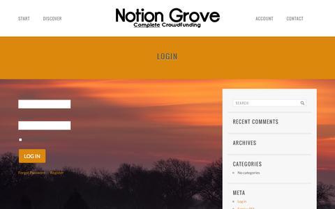 Screenshot of Login Page notiongrove.com - Login | Notion Grove - captured Oct. 26, 2014
