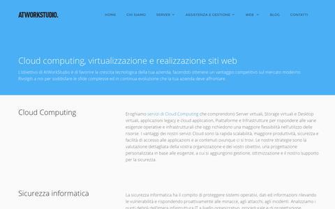 Screenshot of Home Page atworkstudio.it - Cloud computing, virtualizzazione e realizzazione siti web - AtWorkStudio - captured Nov. 21, 2016