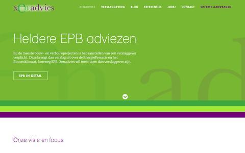 Screenshot of Home Page xenadvies.be - Xenadvies - Xenadvies - captured Feb. 4, 2016