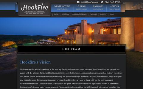 Screenshot of Team Page hookfire.com - Hookfire Outfitters - Hunting Trips - Hunting Lodges - Fishing Trips - Fishing Lodges - captured Sept. 29, 2018