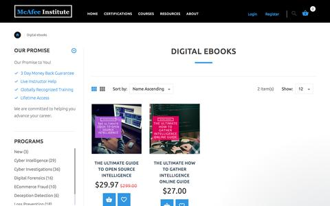 Digital eBooks | McAfee Institute