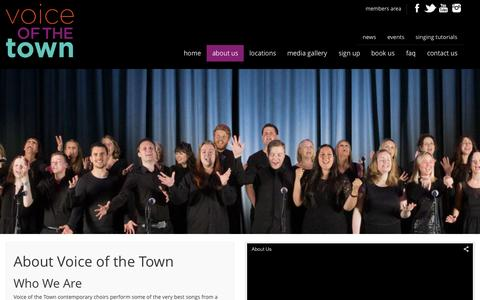 Screenshot of About Page voiceofthetown.co.uk - About Us - captured Aug. 16, 2015