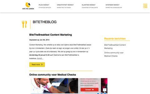 Screenshot of Blog bitethelemon.nl - Bite The Lemon - BiteTheBlog - captured Oct. 5, 2014