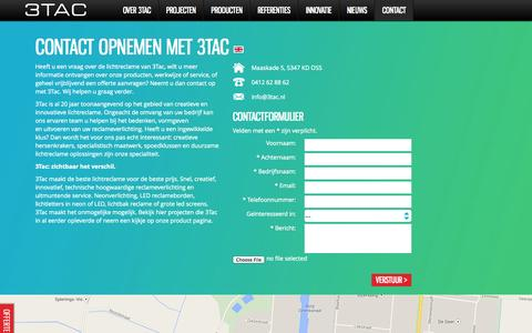 Screenshot of Contact Page 3tac.nl - Neem contact op met 3Tac voor meer informatie - captured Oct. 27, 2014