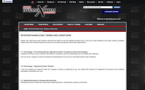 Screenshot of Terms Page sportsdynamix.com - SportsDynamix.com | Terms & Conditions - captured Oct. 9, 2014