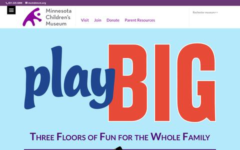 Screenshot of Login Page mcm.org - Home - Minnesota Children's Museum - captured Oct. 13, 2019