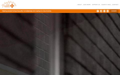 Screenshot of Home Page eci.org.uk - A charity in Exeter and Devon tackling poverty & homelessness - captured Oct. 3, 2014