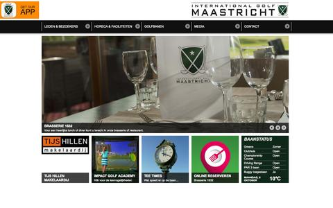 Screenshot of Home Page internationalgolfmaastricht.com - Home - International Golf Maastricht - captured Oct. 6, 2014