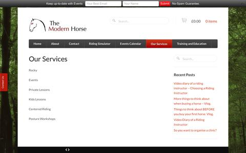 Screenshot of Services Page themodernhorse.co.uk - Our Services - The Modern Horse - captured June 15, 2017
