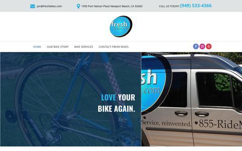 Screenshot of Home Page freshbikes.com - Bike Repair | Newport Beach, CA | Fresh Bikes - captured Oct. 11, 2018