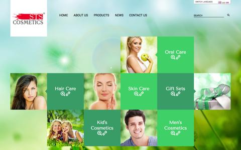 Screenshot of Home Page stscosmetics.bg - STS Cosmetics Ltd. - captured Sept. 30, 2014