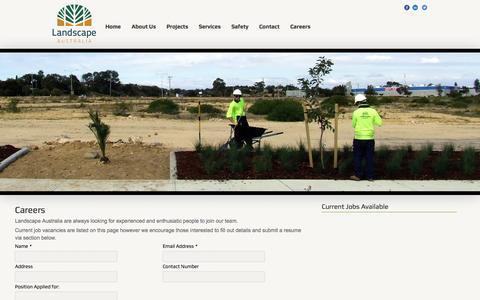 Screenshot of Jobs Page landscapeaust.com.au - Career - captured Oct. 1, 2014
