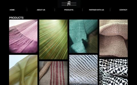 Screenshot of Products Page harmonysilks.net - Harmony Silks - captured Jan. 26, 2016