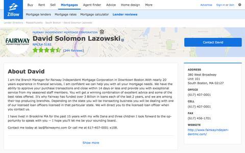 David Solomon Lazowski - Mortgage Lender in South Boston, MA | Zillow