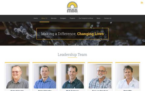 Screenshot of Team Page mbb.co.za - Leadership Team – MBB Consulting Engineers - captured Oct. 1, 2018