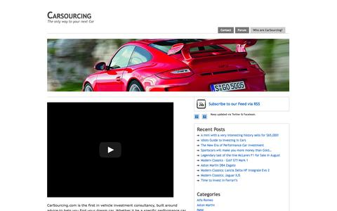 Screenshot of About Page carsourcing.com - Who are CarSourcing? – Carsourcing - captured Oct. 2, 2014