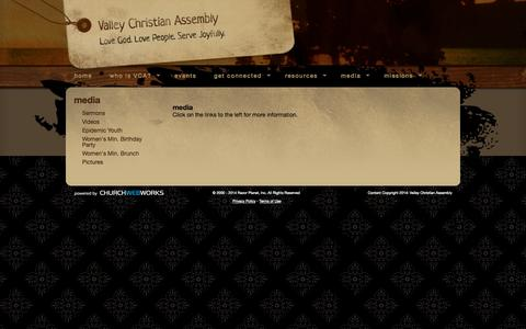 Screenshot of Press Page vcag.com - Valley Christian Assembly - media - captured Oct. 7, 2014