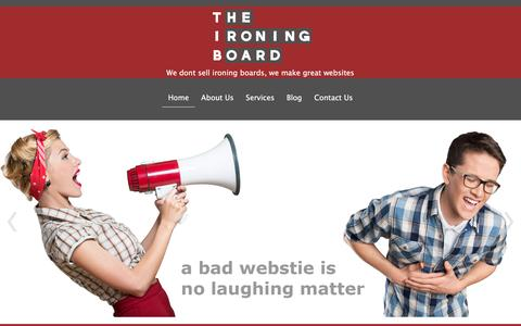 Screenshot of Home Page theironingboard.co.nz - Website Design - Modern, clean, affordable - captured Dec. 16, 2016