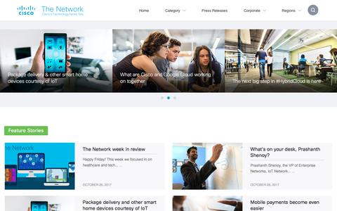 Screenshot of Press Page cisco.com - Cisco Newsroom | The Network - captured Oct. 30, 2017
