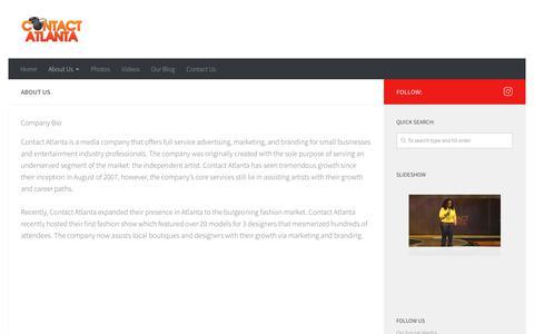 Screenshot of About Page contactatlanta.com - About Us   Contact Atlanta - captured Sept. 25, 2018