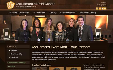 Screenshot of Team Page mac-events.org - McNamara Event Staff — Your Event Partners - captured July 9, 2018