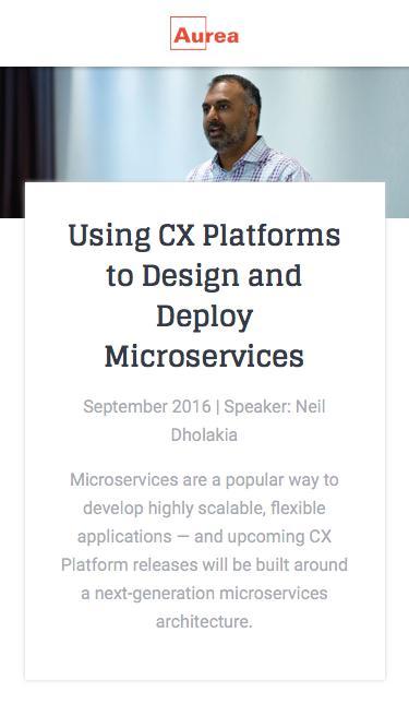 Webinar: Next Gen Microservices with CX Platforms Enterprise | Aurea