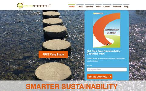 Screenshot of Home Page eco-coach.com - Sustainability Consultant   United States   Eco-Coach Inc. - captured July 16, 2018