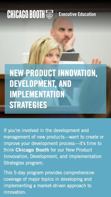 Executive Education at Chicago Booth | New Product Development