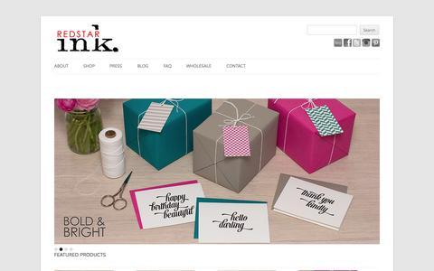 Screenshot of Home Page redstarink.com - Calendars Planners & Notebooks - captured Oct. 7, 2014