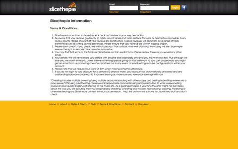 Screenshot of Terms Page slicethepie.com - Slicethepie - captured Sept. 17, 2014