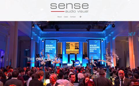 Screenshot of Home Page sense-av.be - Sense Audio-Visual | The right technology at the right place - captured June 17, 2017