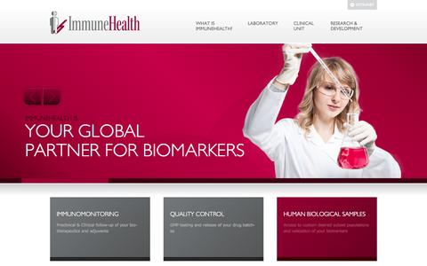 Screenshot of Home Page immunehealth.eu - Home - ImmuneHealth - captured Sept. 30, 2014