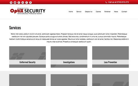 Screenshot of Services Page optix.ro - Services – OptiX Security System - captured Oct. 21, 2017