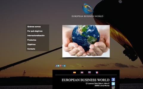 Screenshot of Home Page eurobw.com - Internacionalización de empresas - EUROPEAN BUSINESS WORLD - captured Oct. 2, 2014